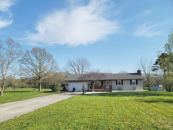 2,688 total sq ft, 3 Bedroom Home w/2 Baths, Finished Walkout Basement, 2 car Garage. All on 2.5 acres with ¾ acre stocked pond.