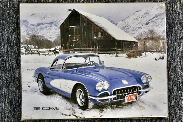 Dan Shaffer Estate 2000± Vintage 1950's,60's,70's Corvette Car Parts1950-80 License Plates, 2000± Toys, (Model cars & farm toys)Advertising Memorabilia, 2000± Glassware & Collectibles10-20′ Truck Boxes